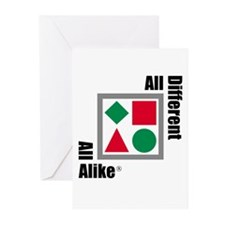 Different & Alike Greeting Cards (Pk of 10)