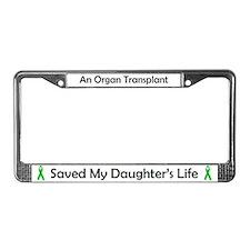 Daughter Transplant License Plate Frame
