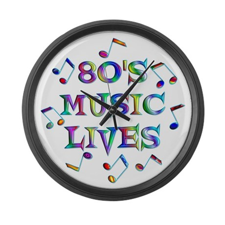 80's Music Large Wall Clock