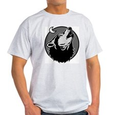 """Graphic Wolf"" Ash Grey T-Shirt"