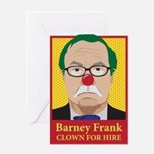Barney Frank Clown Greeting Card
