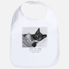 Thinking Cats-And-Quotes Bib