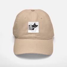 Thinking Cats-And-Quotes Baseball Baseball Cap