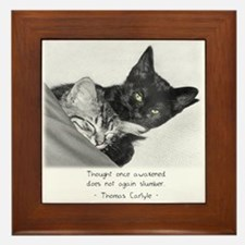 Thinking Cats-And-Quotes Framed Tile