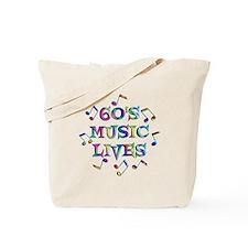 60s Music Tote Bag