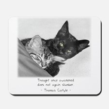 Thinking Cats-And-Quotes Mousepad