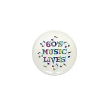 60s Music Mini Button (10 pack)