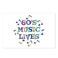 60s Music Postcards (Package of 8)