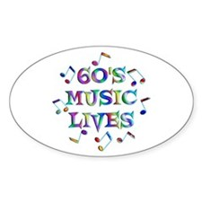 60s Music Oval Decal