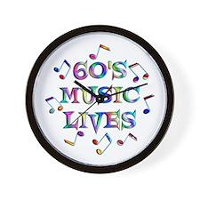 60s Music Wall Clock