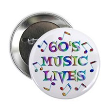 """60s Music 2.25"""" Button (100 pack)"""