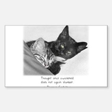 Thinking Cats-And-Quotes Rectangle Decal