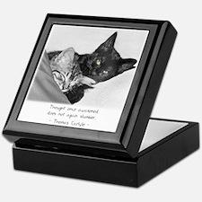 Thinking Cats-And-Quotes Keepsake Box