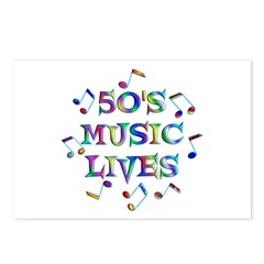 50s Music Postcards (Package of 8)