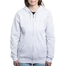 'Vintage' Red Biohazard Zip Hoodie