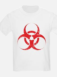 'Vintage' Red Biohazard T-Shirt