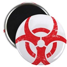'Vintage' Red Biohazard Magnet