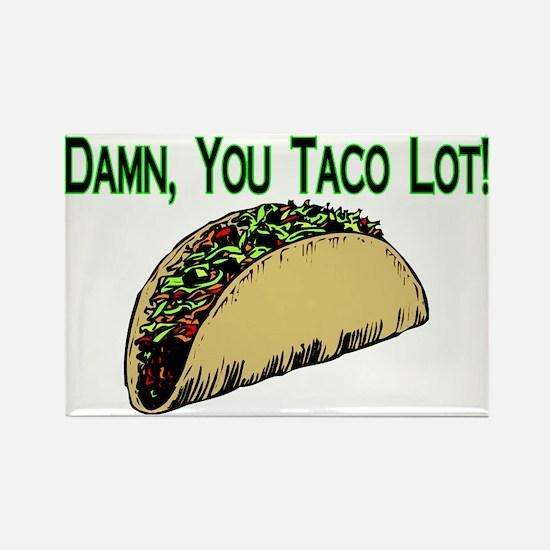 Taco Lot Rectangle Magnet