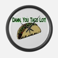 Taco Lot Large Wall Clock