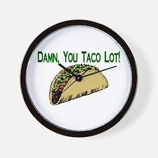 Taco Lot Wall Clock