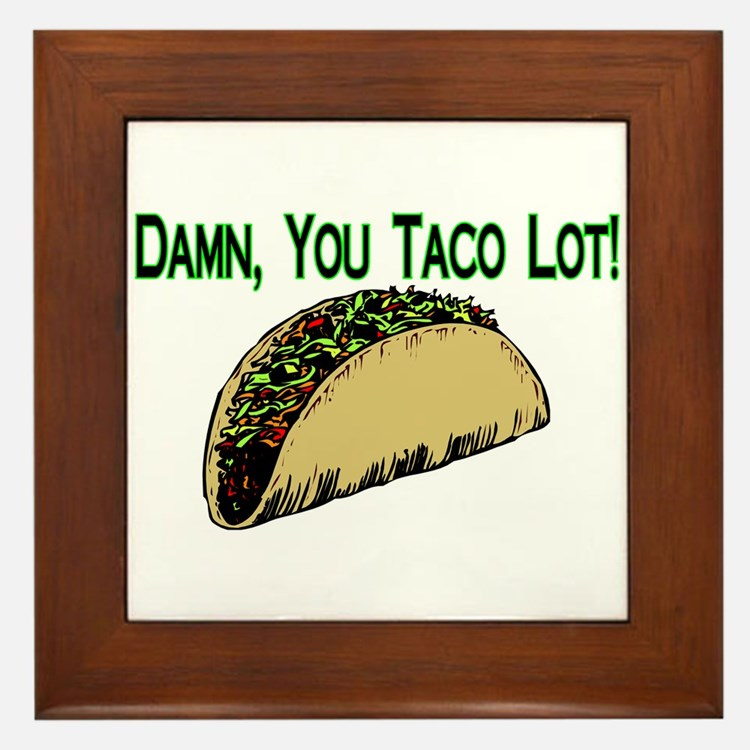 Taco Lot Framed Tile