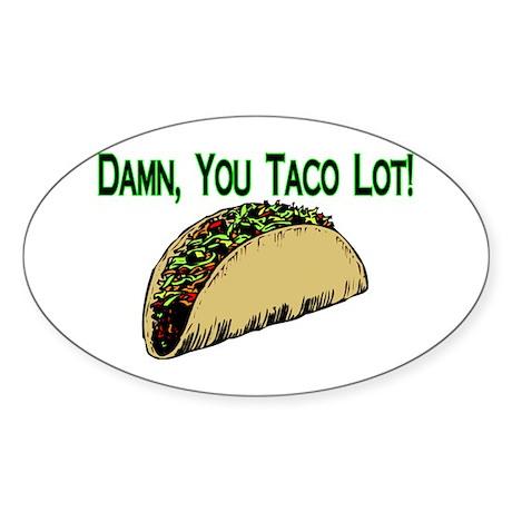 Taco Lot Oval Sticker (50 pk)