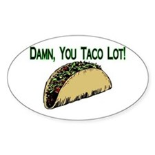 Taco Lot Oval Decal