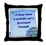 Penny Saved Throw Pillow