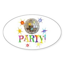 Party Oval Decal