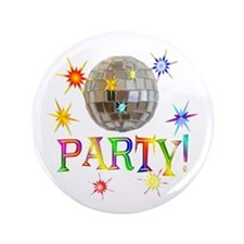 """Party 3.5"""" Button (100 pack)"""