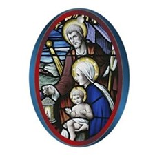 Madonna and Child Oval Ornament