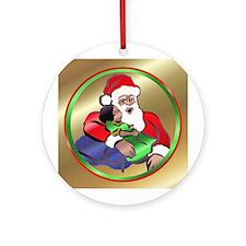 BLK Santa Ornament (Round)