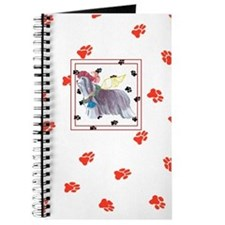 Gulliver's Angels Red Pawprint Beardie Journal