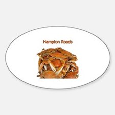 Hampton Roads Crabs Oval Decal