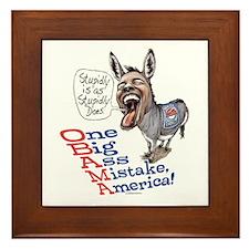 Stupidly Anti Obama Framed Tile