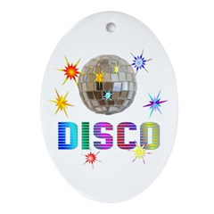 Disco Oval Ornament
