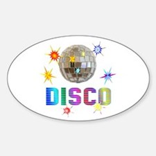 Disco Oval Decal