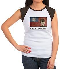 Free Burma Women's Cap Sleeve T-Shirt