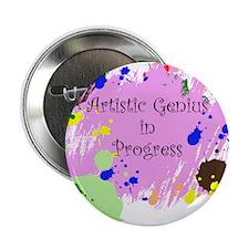 """Artistic Genius 2.25"""" Button"""