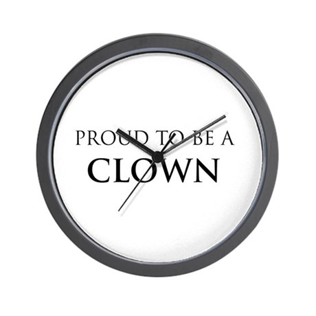 Proud Clown Wall Clock
