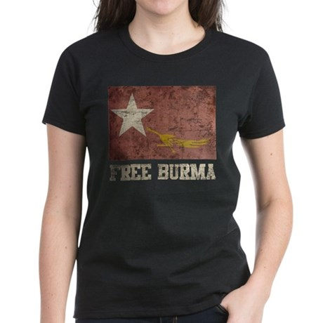 Free Burma Women's Dark T-Shirt