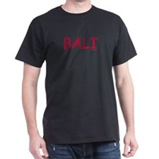 Bali (Red) - Black T-Shirt