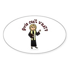 Blonde Preacher Oval Decal