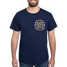 """""""Maltese white & red"""" Navy or Black T-Shirt"""