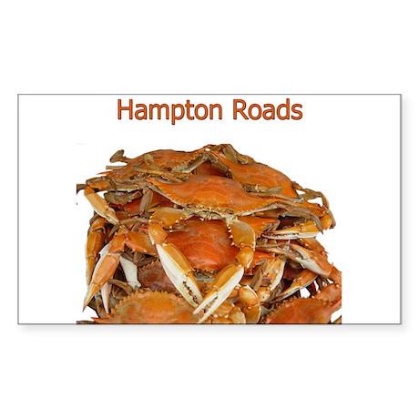 Hampton Roads Crabs Rectangle Sticker