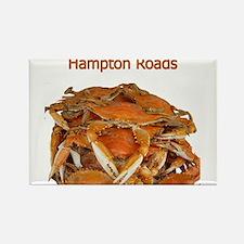 Hampton Roads Crabs Rectangle Magnet