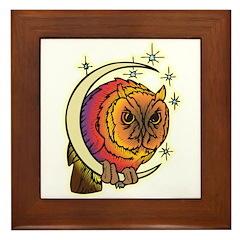Hedwig the Owl Framed Tile