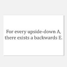 Every updside-down A, exists backwards E Postcards