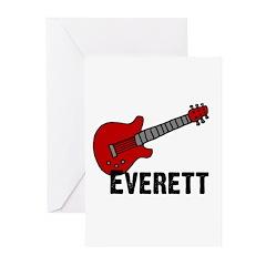 Guitar - Everett Greeting Cards (Pk of 20)