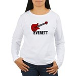 Guitar - Everett Women's Long Sleeve T-Shirt